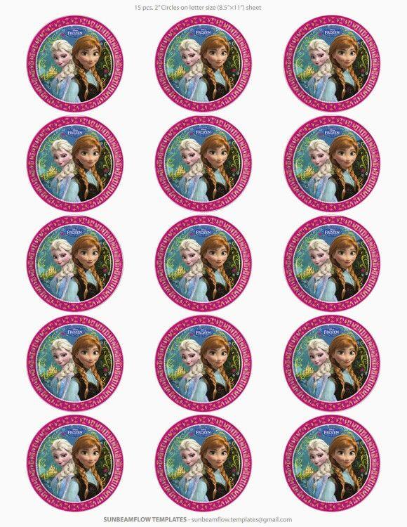 Imprimibles Frozen para galletas o cupcakes