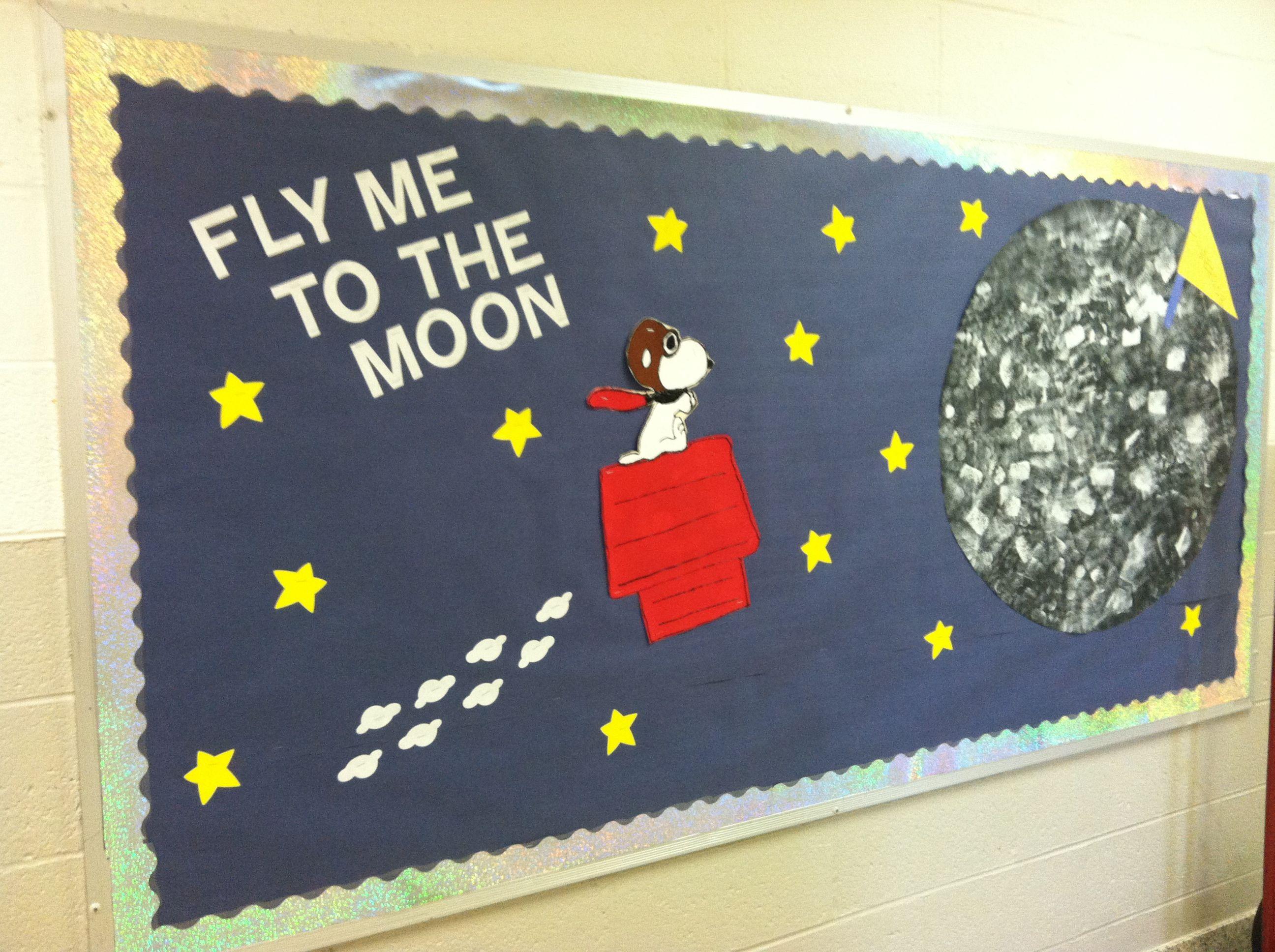 School Space Themed Bulletin Board
