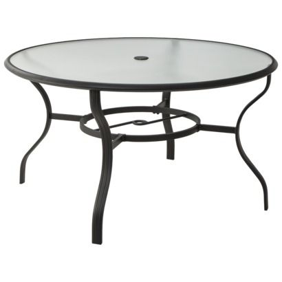 Threshold nokomis patio round dining table 99 a deck for Round table 99 rosenheim