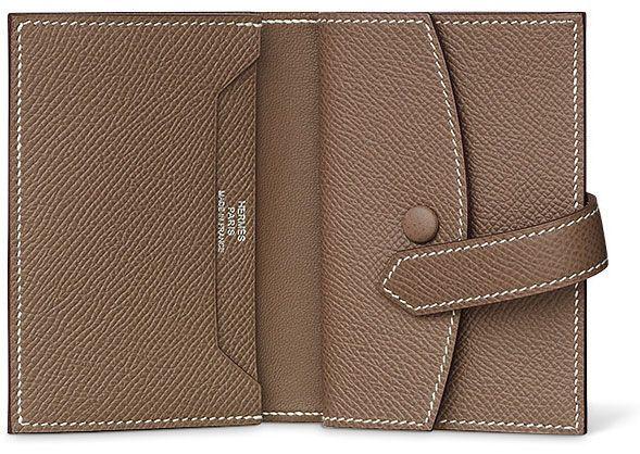 Hermes Mini Bearn Wallet Interieur