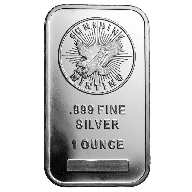 1 Oz Sunshine Silver Bar New Mintmark Si Silver Bars Gold And Silver Coins Gold Bullion