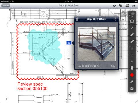 PlanGrid allows users to upload blueprints and plans online and then distribute them to team members as PDFs through the PlanGrid apps. From both the iPhone and iPad, users can mark up the blueprints and plans and those annotations are synced to the cloud.    Full details:  http://www.equipmentworld.com/plangrid-blueprint-app-launches-iphone-app-and-box-net-integration/#    #construction #technology #tech #plangrid #iPhone #iPad #app #constructiontech #construction #equipment