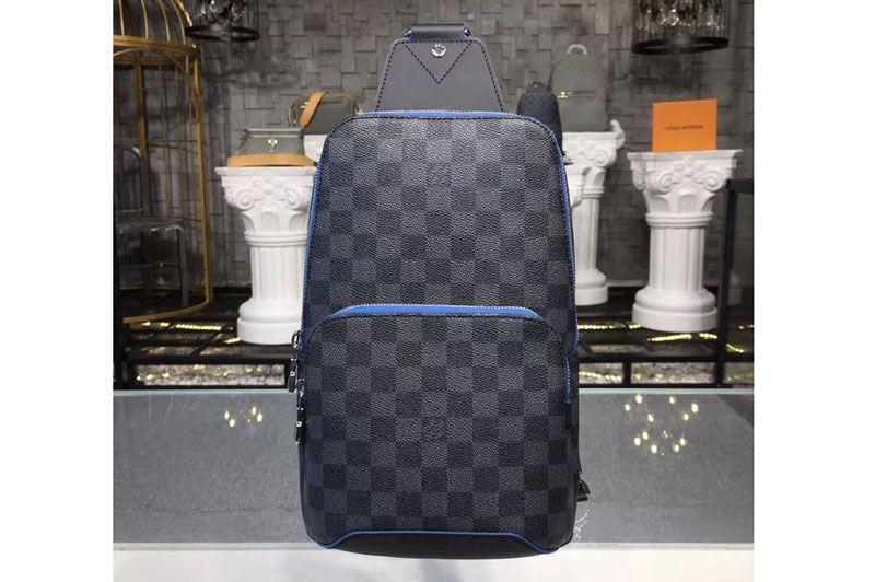 707b9799b Louis Vuitton N40008 LV Avenue Sling Bag Damier Graphite Canvas -  iReplicaBags | Replica Louis Vuitton