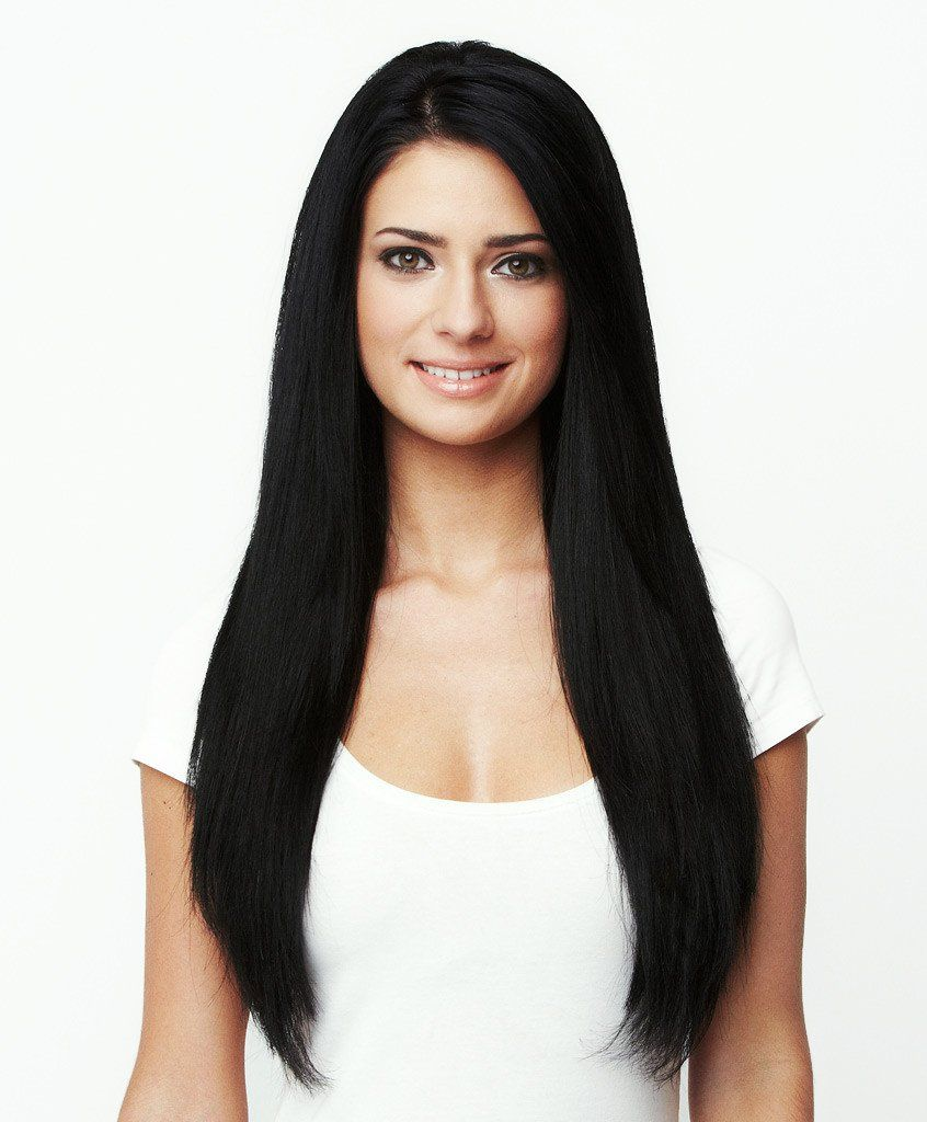 Natural Color Double Drawn Indian Remy Human Hair Extensions 18 Inch