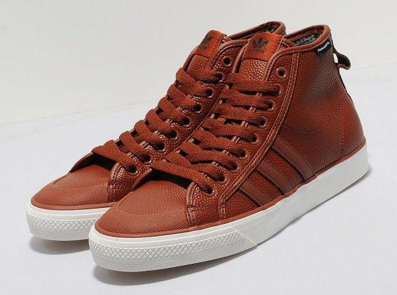 adidas Originals Nizza Hi Brown Leather