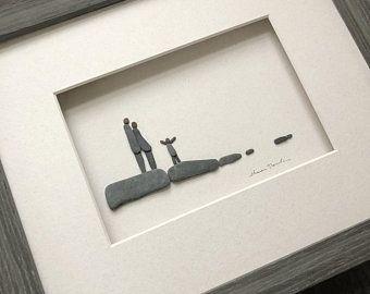 Pebble Art 8 par 10 Sharon Nowlan Original Famille des Cinq | Etsy