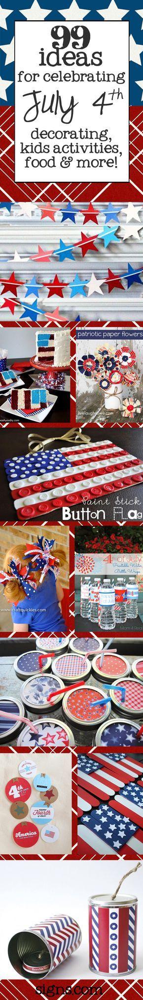 4th of July Ideas! #patriotsdaycraftsforkids