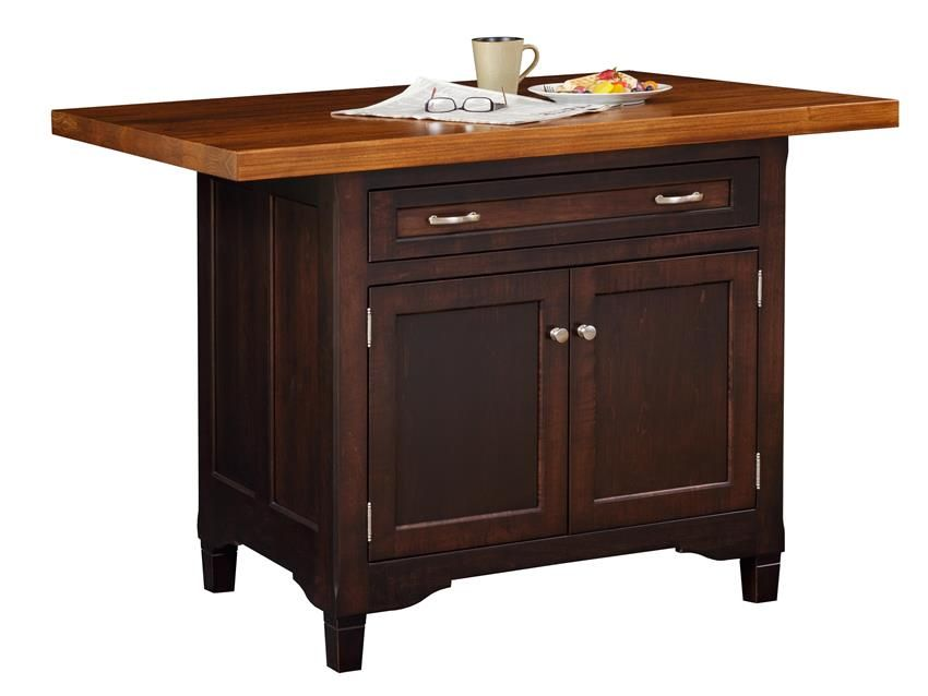 Captivating Amish Lexington Kitchen Island With One Drawer And Two Doors