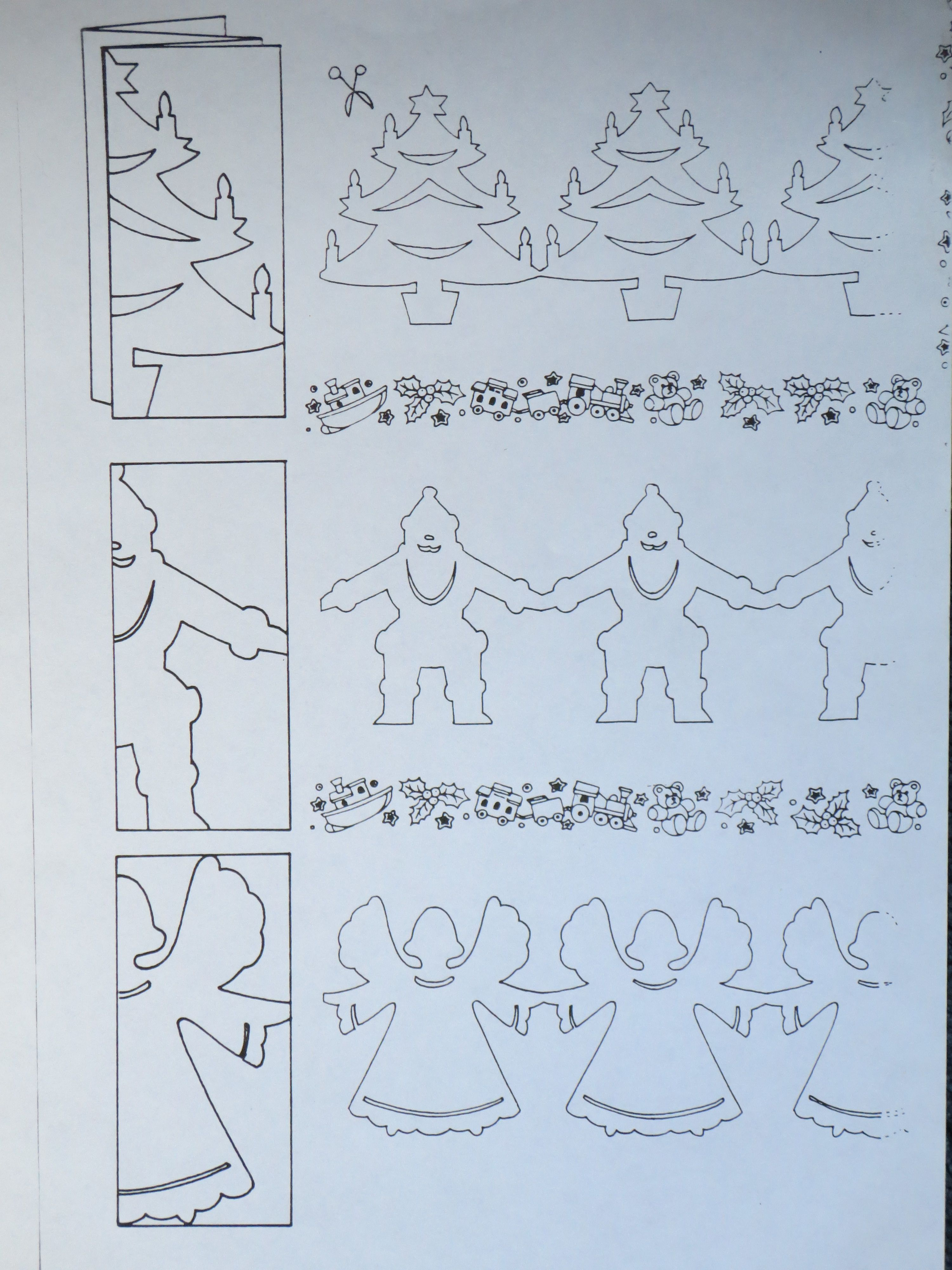 Christmas Kirigami - Xmas - Pinterest - Kirigami, Paper Chains