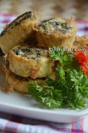 Diah Didi S Kitchen Rollade Tahu Daun Singkong Masakan Vegetarian Resep Masakan Masakan