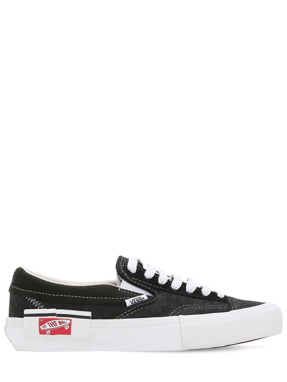 Vans Slip On Cap Lx Sneakers In Gray