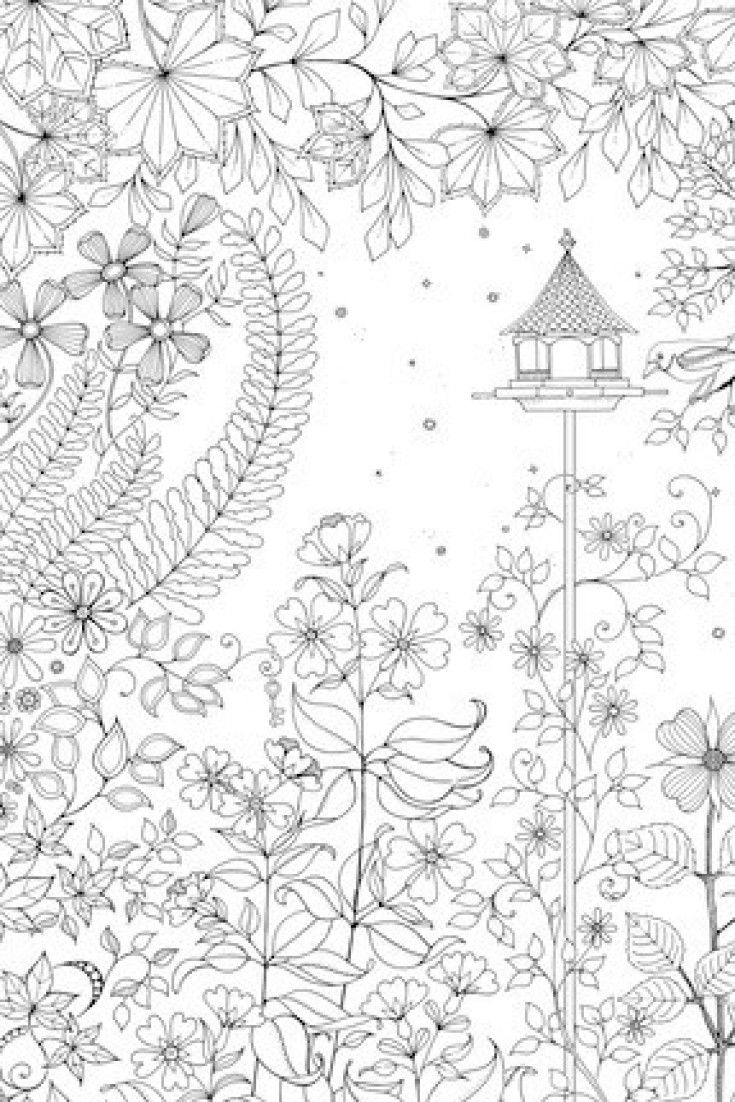 free printable secret garden coloring pages | A Coloring Book For Adults, Because Everyone Deserves To ...