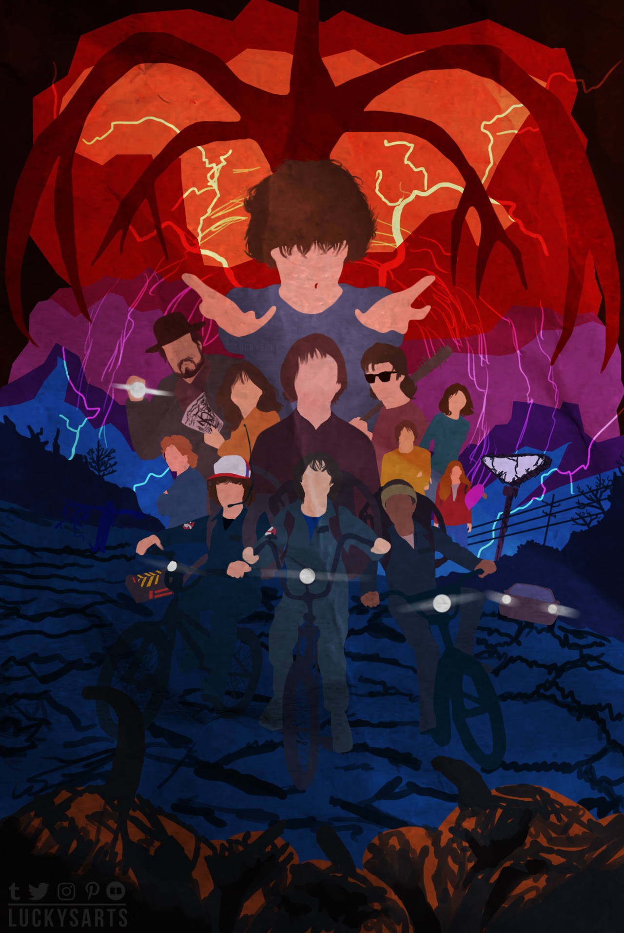 Minimalist Poster Stranger Things Season 2 Wallpapers Series