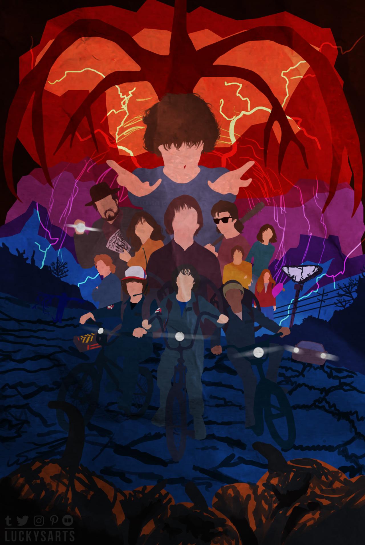 Minimalist Poster Stranger Things Season 2 stranger