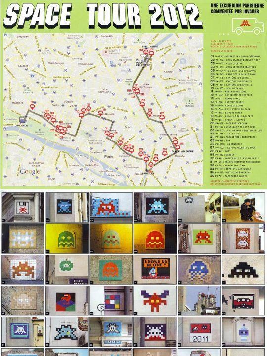 Space Invader Paris Tour 2012