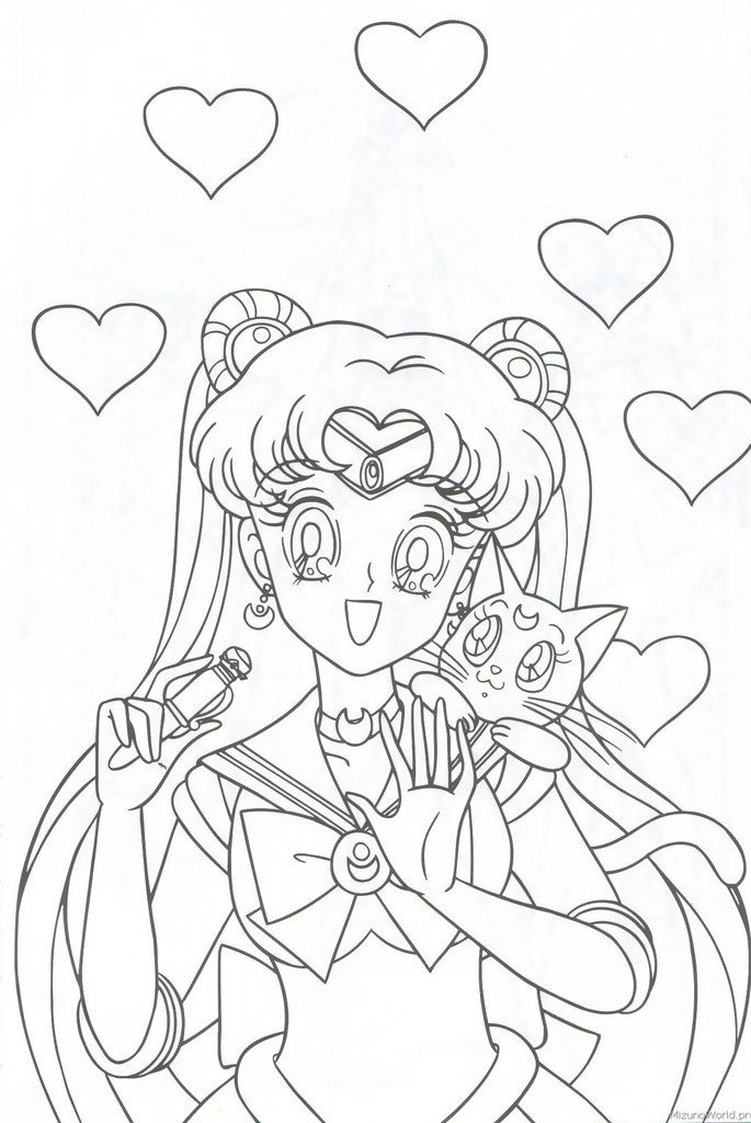 Раскраски СМ  sailor moon coloring pictures coloring pages