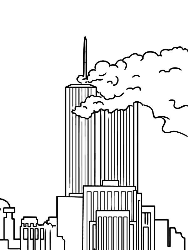 Patriots Day World Trade Center Coloring Pages | 9/11/01 | Pinterest ...