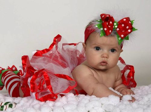 For A - I m loving the maribou! Holiday Cheer Baby Girl Headband ... b9d3fe37ff6