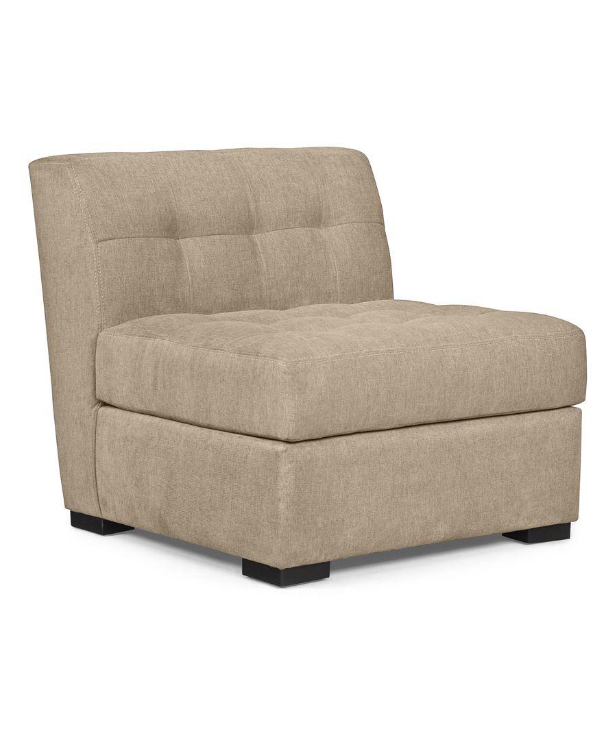 Roxanne Fabric Armless Living Room Chair
