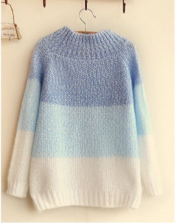 Cute students sweet gradient color sweater Cute Kawaii Harajuku - clothing sponsorship