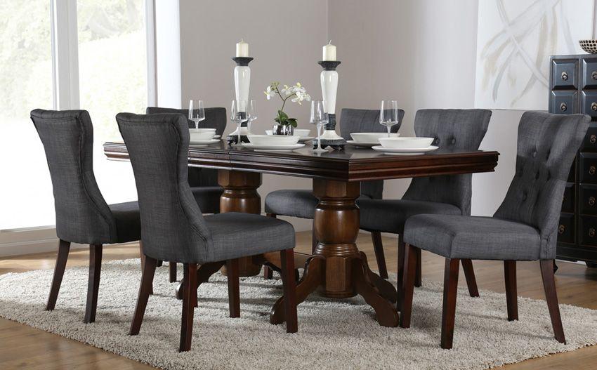 chatsworth dark wood extending dining table breakfast room