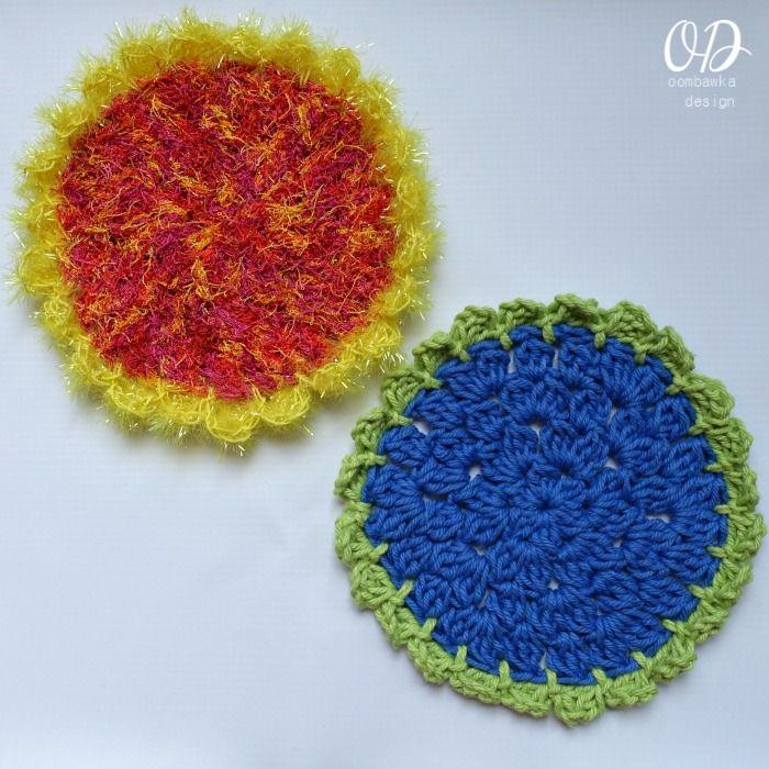 The Easy Sunflower Scrubby Dishcloth | Hoja, Mariposas y Flores