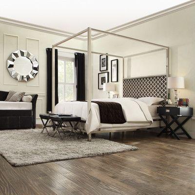 House of Hampton Chattel Panel Bed with Vulcan Upholstered Headboard & Reviews   Wayfair