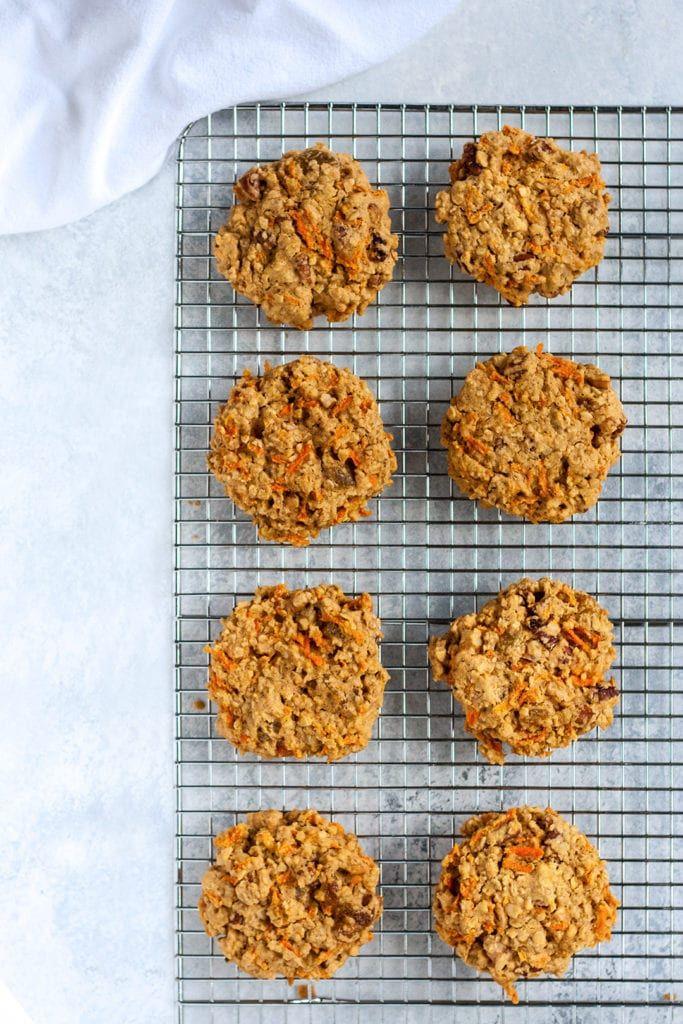 Carrot Cake Breakfast Cookies Recipe Well Vegan Recipe Breakfast Cookies Breakfast Cookie Recipe Recipes