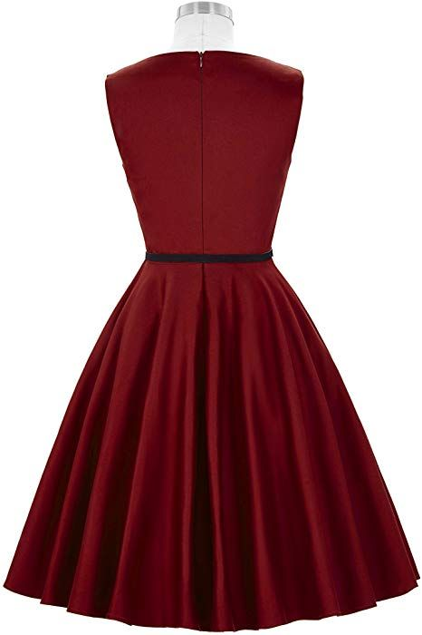 50s rockabilly kleid swing kleid sommerkleid damen ...