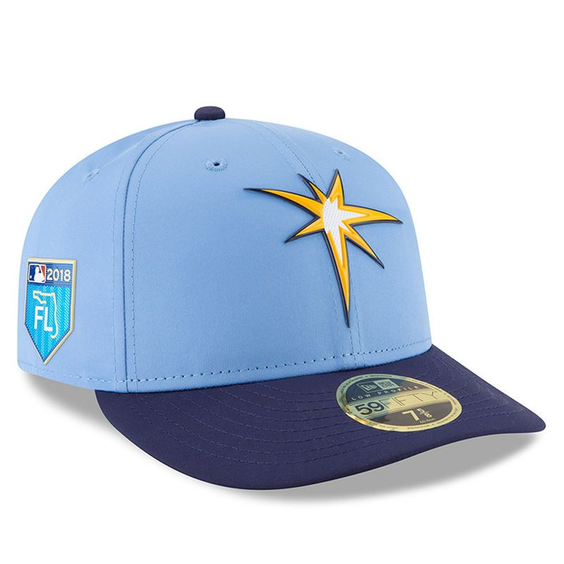 0476a30db5b6a Tampa Bay Rays New Era 2018 Spring Training Collection Prolight Low Profile  59FIFTY Fitted Hat – Light Blue Navy