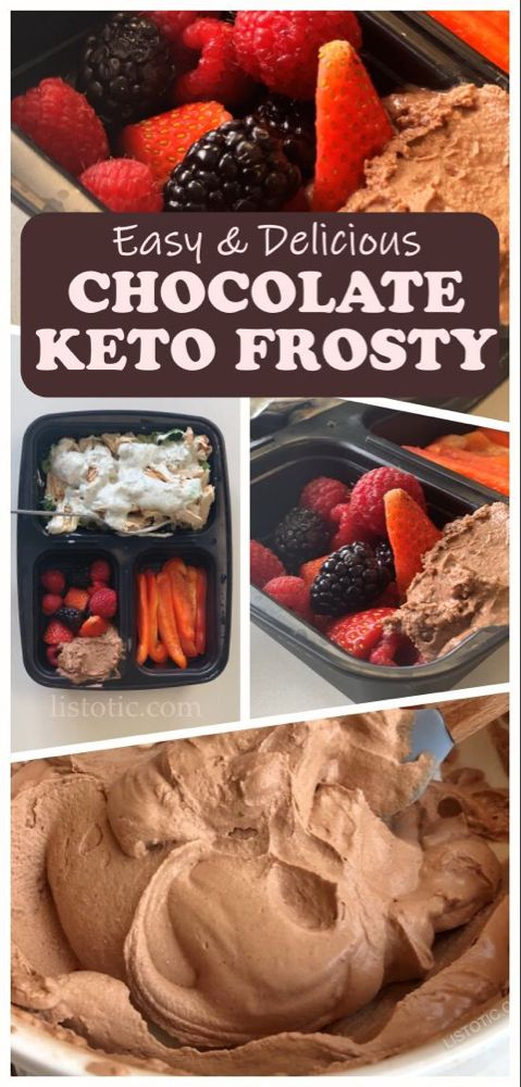 Easy Keto Chocolate Frosty (The BEST low carb dessert recipe, ever!) #chocolatefrosty