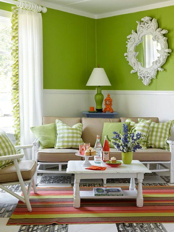 Los Mejores Colores En La Decoracion De Salones Pequenos Spring Living Room Living Room Green Beautiful Living Rooms