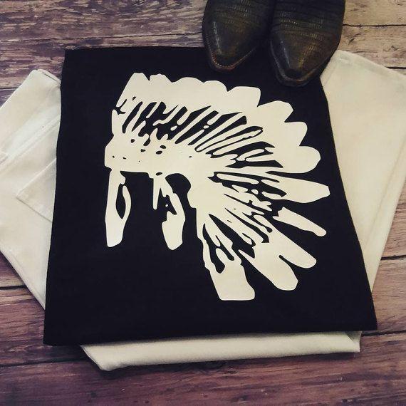 Warrior Headdress tee boutique tops trending by LondonLabelDesign