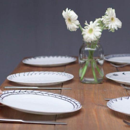Designer dinner plate doodles. Turn plain white plates into designer dishware. & Designer dinner plate doodles. Turn plain white plates into designer ...