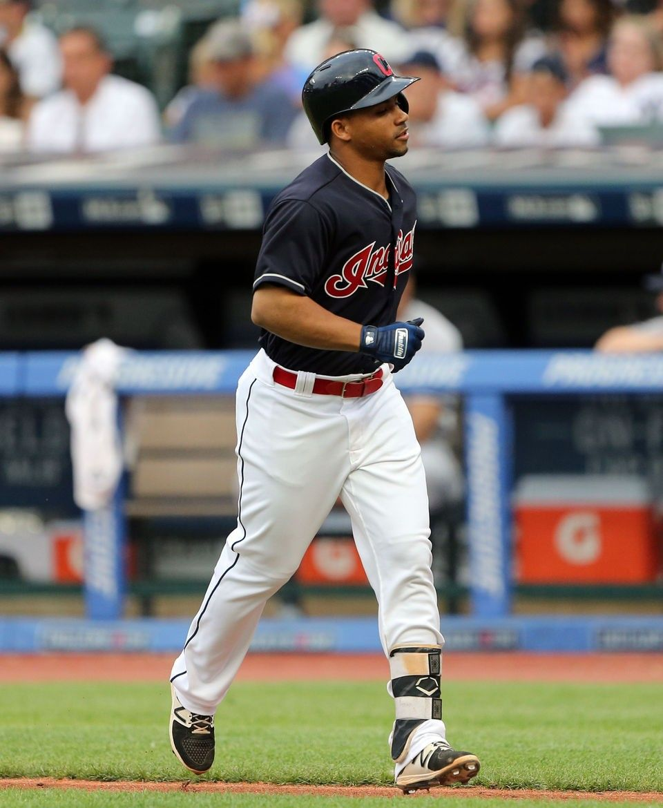 Cleveland Indians Francisco Mejia Heads Back To The Dugout After Lining Out In The 2nd Against The New York Yankees A New York Yankees Cleveland Indians Dugout