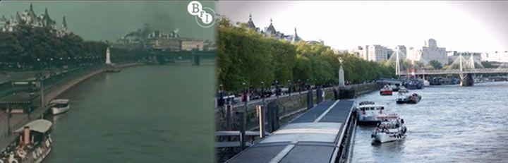 Une rétrospective vidéo étonnante compare Londres de 1927 à la ville que vous connaissez aujourd'hui