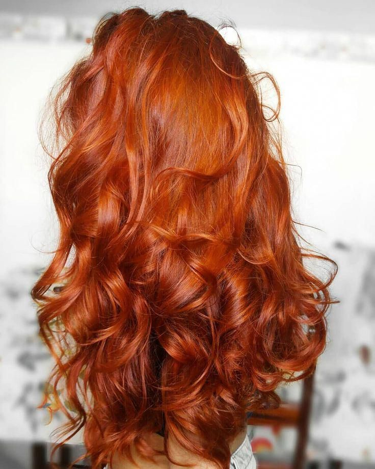 Photo of Natural Curly Hair Red Long Hair