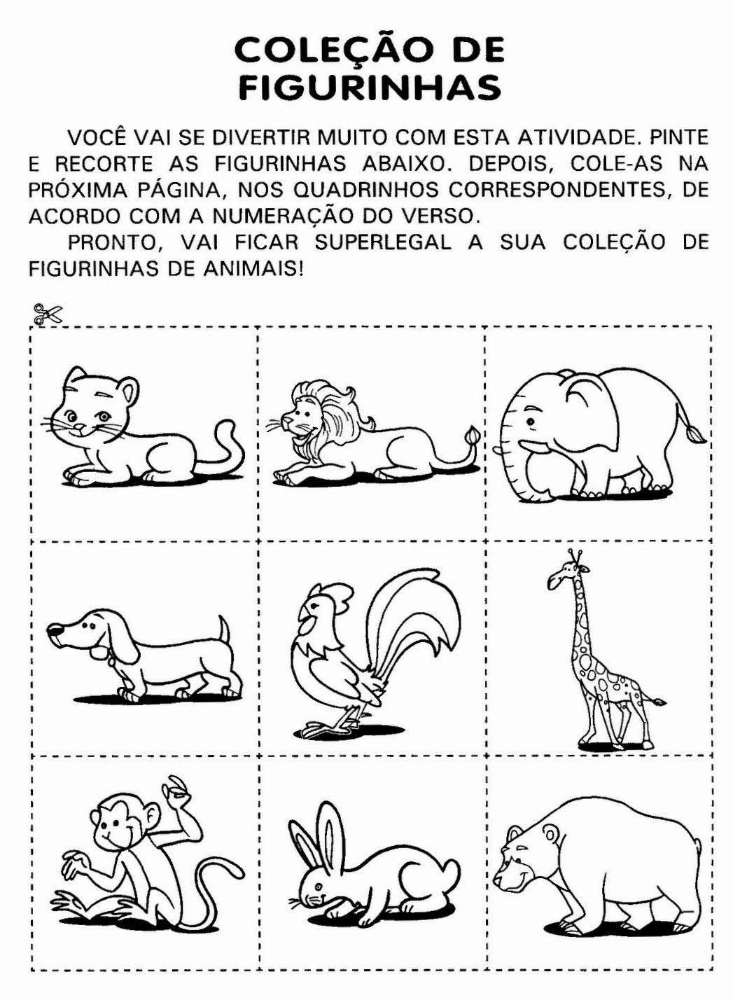 Para Quem Ama Alfabetizacao Atividades Tema Animais Com Imagens
