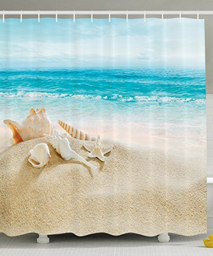 Ambesonne Ocean Decor Collection Starfish Seascape Sea Beach