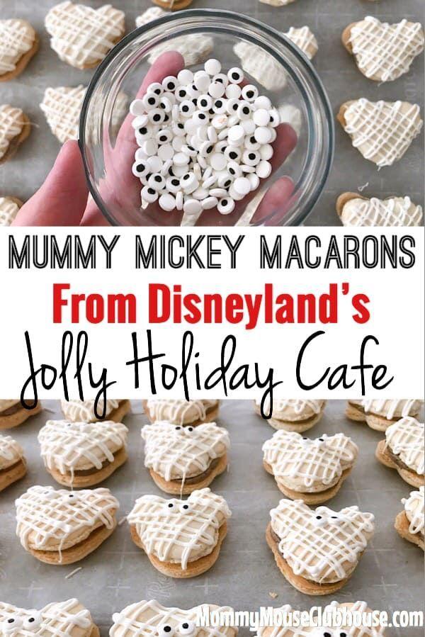 Disney's Mickey Mummy Macarons #halloweenmacarons Learn how to make a Disney inspired Halloween macaron that is shaped like a Mickey Mouse Mummy! #disney #disneyland #disneyworld #disneyrecipe #halloweenmacarons