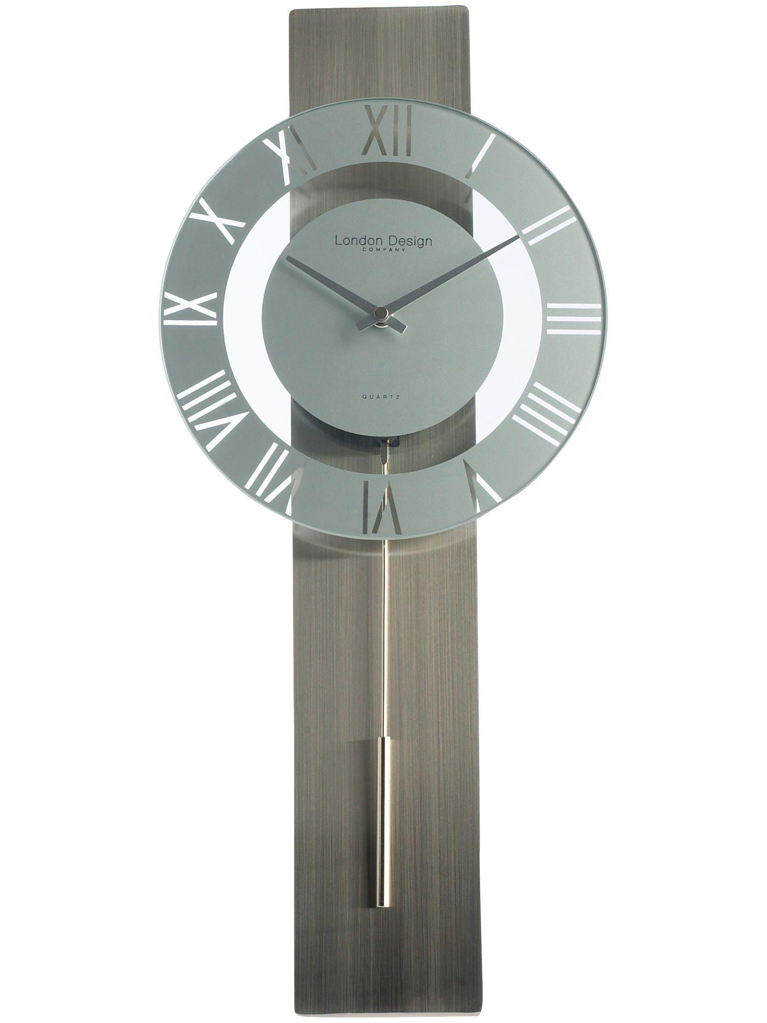 London Clock Silver Pendulum Wall Clock House Pinterest London