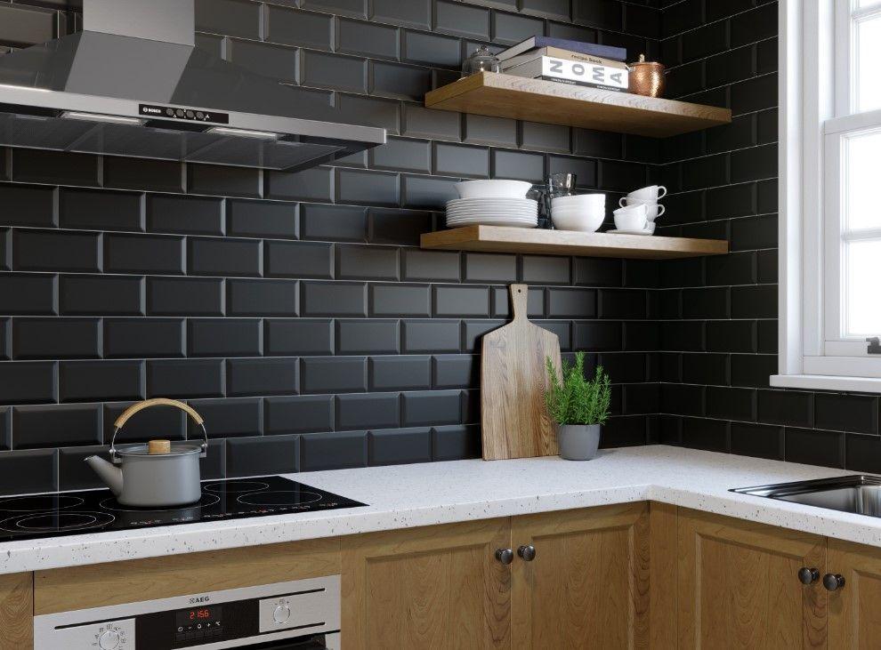 Inspirasi Keramik Dinding Dapur Kamar Mandi Terbaik Wandfliesen Kuche Kuchendesign Schwarze Wande
