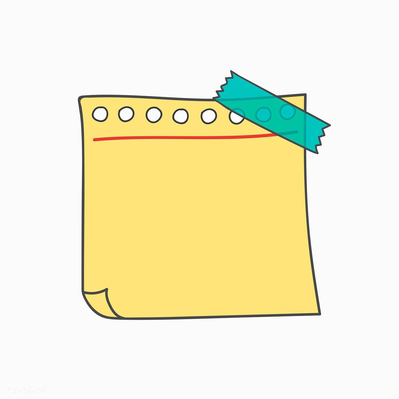 Download Premium Vector Of Blank Yellow Note Paper Vector 553813 Note Paper Note Doodles Good Notes