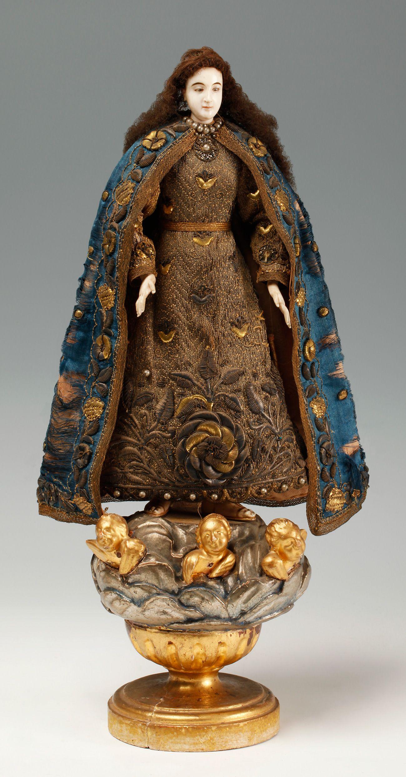 7e47eec9d0d Escultura    Escuela hispano-filipina del siglo XVIII    Subastas Online de  Arte