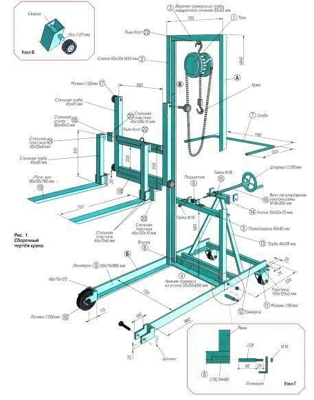 Diy fork lift, 3D CAD model by Jagruthtech in Jagruth Tech Pvt Ltd