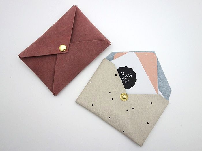 Friday diy leather envelope from anmutig envelopes pouches and simple leather pouch that you can create yourself perfect to make for business cards reheart Image collections