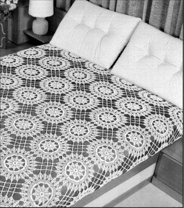 couvre lit crochet gratuit Melissa Melina Crochet: Couvre lit 1 au crochet patron gratuit  couvre lit crochet gratuit