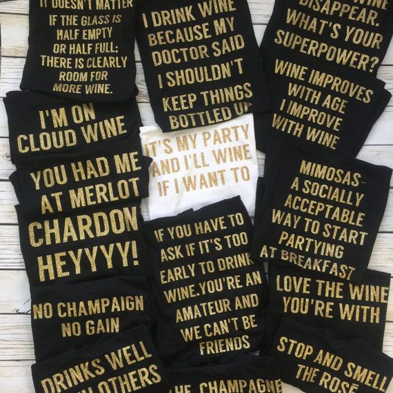 bachelorette party ideas, bachelorette party, wine shirts ...