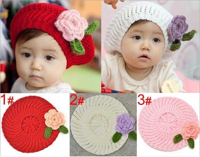 Corte de pelo equilibrar identificación  boinas para niñas | Gorro para bebé de ganchillo, Sombreros tejidos para  niños, Flores de punto
