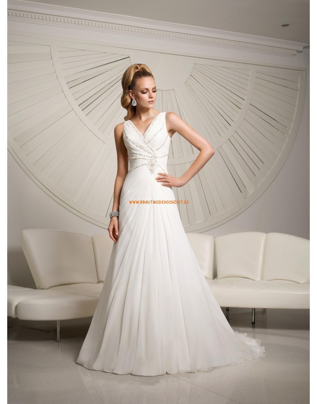 RONALD JOYCE A-linie Traumhafte Hochzeitskleider aus Chiffon